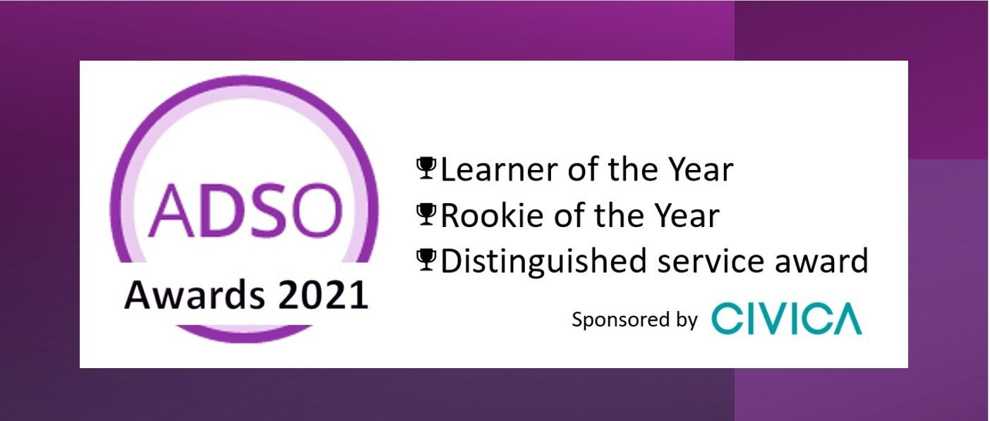 ADSO Awards 2021 banner